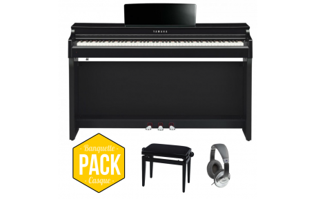 Yamaha CLP-625 PE Noir Brillant Pack - Centre Chopin