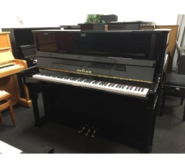 Centre chopin Pianos Droits SEILER 122 Konsole noir brillant